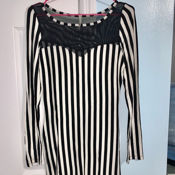 Voll Style Dresses & Skirts - Black and White striped mini dress